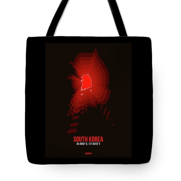 Map Of South Korea Tote Bag