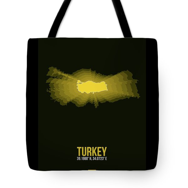 Map Of Turkey 3 Tote Bag