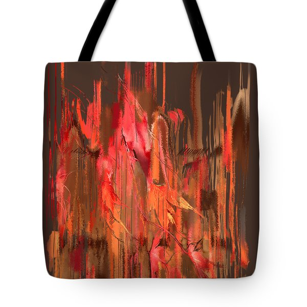 Tote Bag featuring the digital art Maple Leaf Rag by Gina Harrison