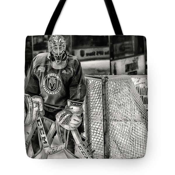 Tote Bag featuring the photograph Marc Andre Fleury Vegas Golden Knights by Michael Rogers