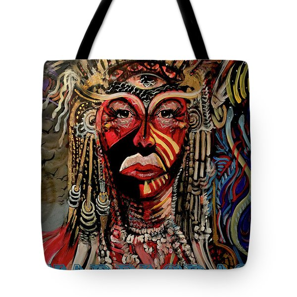Tote Bag featuring the painting Mardi Gras 2019 by Amzie Adams