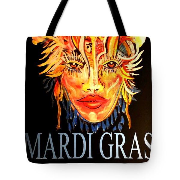 Mardi Gras Lady Tote Bag