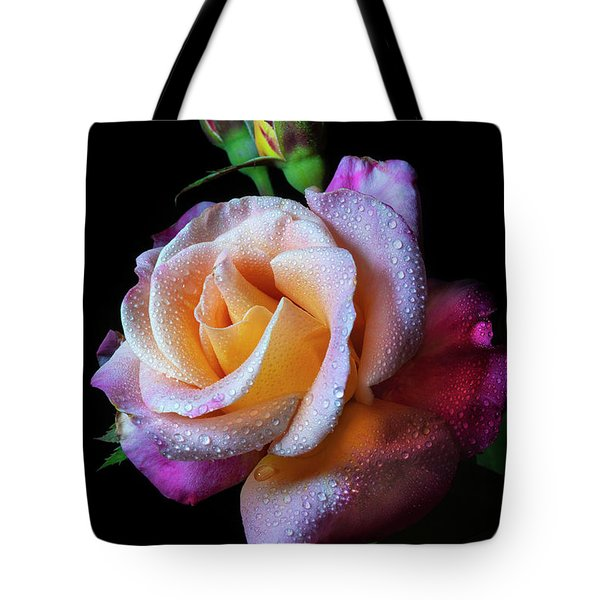 Mardi Gras Rose Portrait Tote Bag
