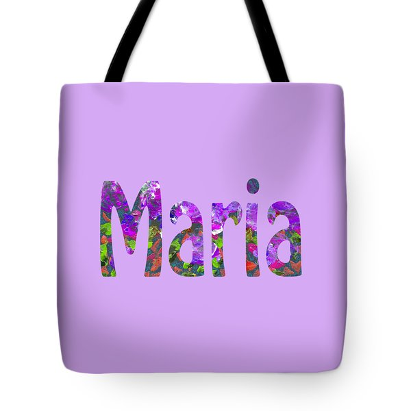 Tote Bag featuring the digital art Maria by Corinne Carroll