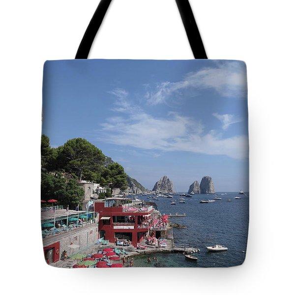 Marina Piccola Beach Tote Bag