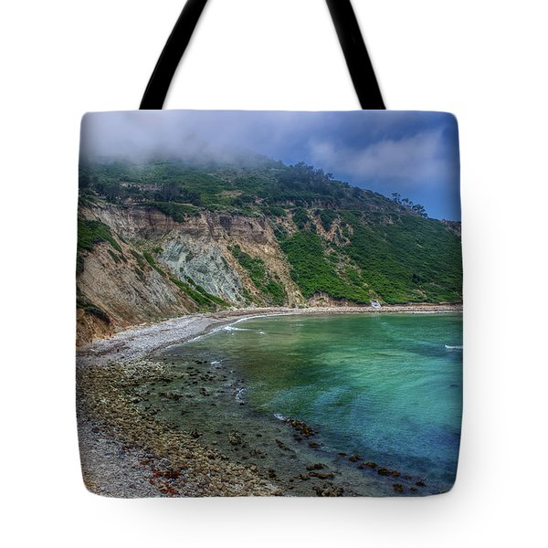 Tote Bag featuring the photograph Marine Layer Over Bluff Cove by Andy Konieczny