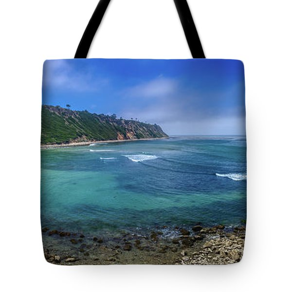 Marine Layer Over Bluff Cove Panorama Tote Bag