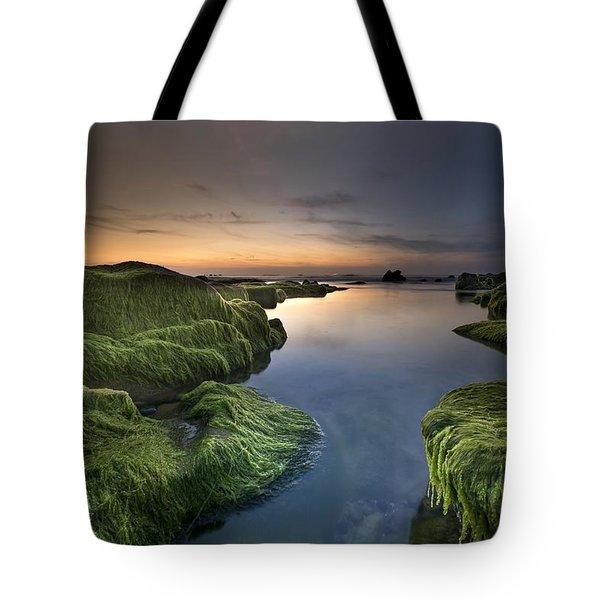Marine Sunset Tote Bag