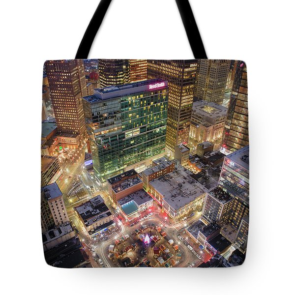 Market Square From Above  Tote Bag