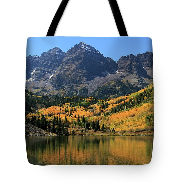 Maroon Bells In Fall Tote Bag