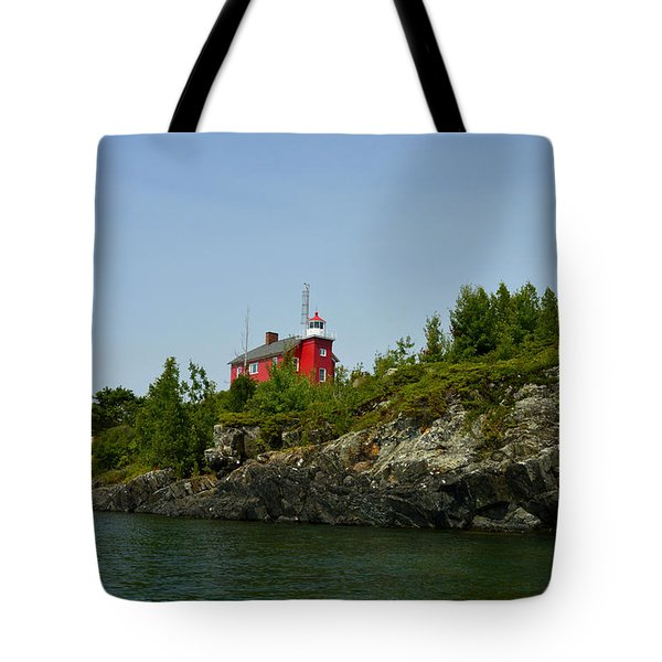 Marquette Michigan Lighthouse Tote Bag