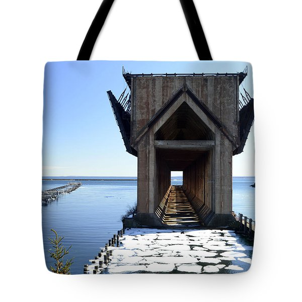 Marquette Ore Dock Cathedral Tote Bag