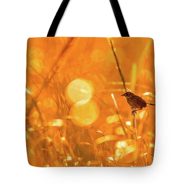 Tote Bag featuring the photograph Marsh Sparrow by Francisco Gomez