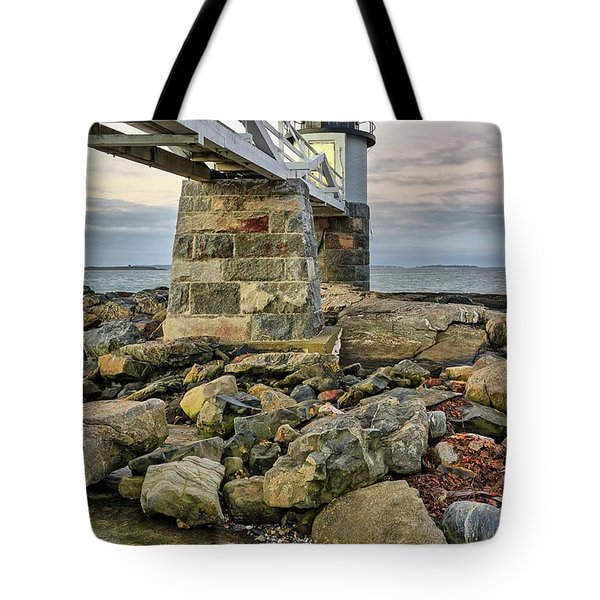 Marshall Point Light From The Rocks Tote Bag