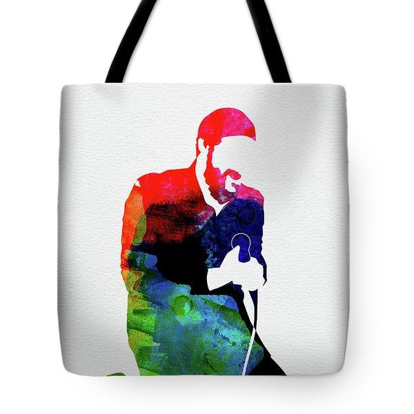 Marvin Gaye Watercolor Tote Bag