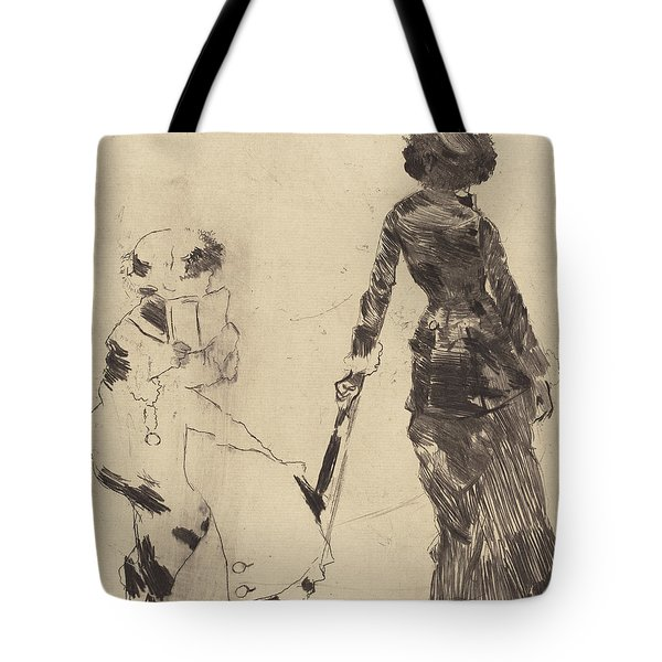 Mary Cassatt At The Louvre  The Etruscan Gallery Tote Bag