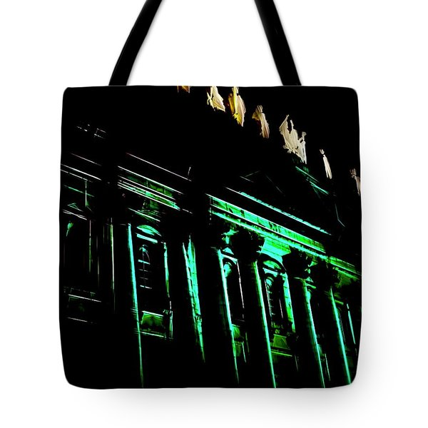 Mary, Queen Of The World Cathedral Abstract Tote Bag