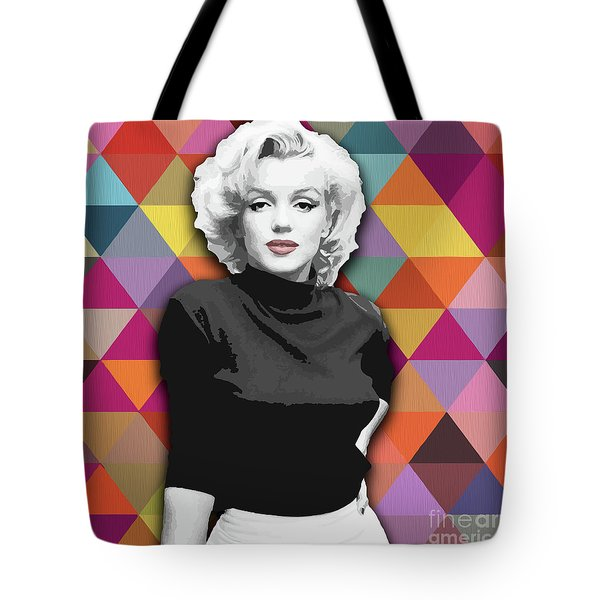Tote Bag featuring the painting Marylin Monroe Diamonds by Carla Bank