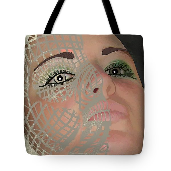 Mask Dark And Light Tote Bag