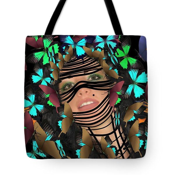 Mask Of Butterflies And Bondage Tote Bag
