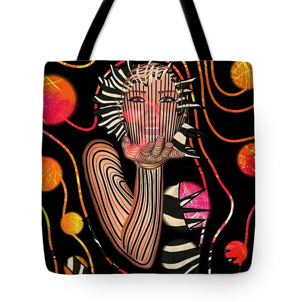 Mask Of The Sea Tote Bag
