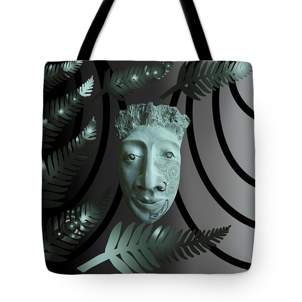 Mask The Maori Warrior Tote Bag