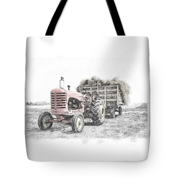 Tote Bag featuring the photograph Massey Harris by Brad Allen Fine Art