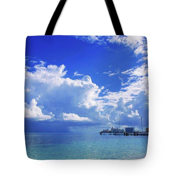 Massive Caribbean Clouds Tote Bag
