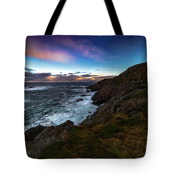 massive storm near Nyksund Tote Bag