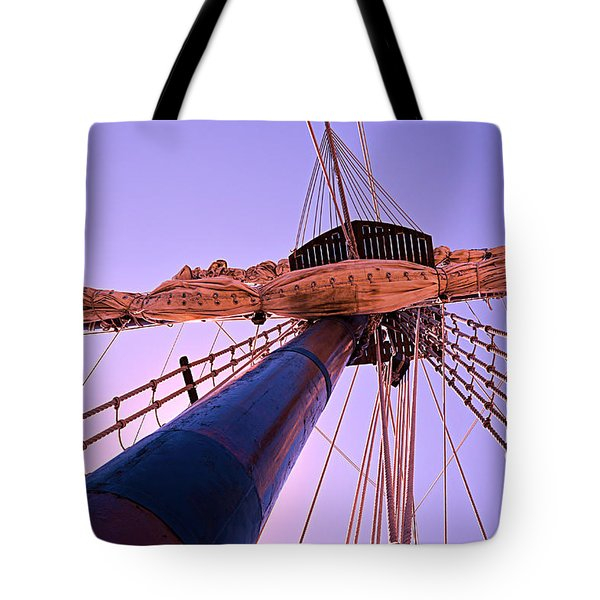 Tote Bag featuring the photograph Mast And Sails by SimplyCMB
