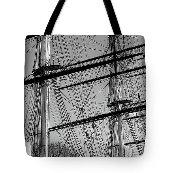 Masts And Rigging Of The Cutty Sark Tote Bag