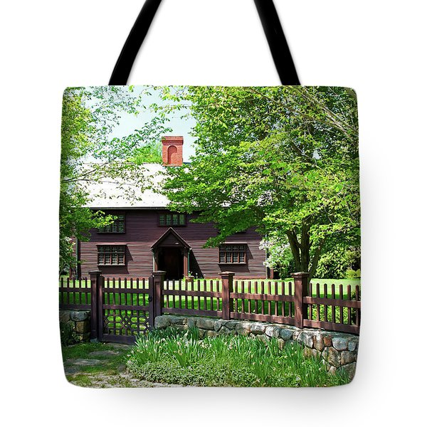 Tote Bag featuring the photograph Matthew Whipple House by Wayne Marshall Chase
