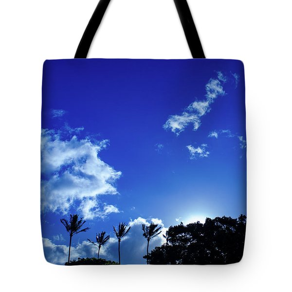 Tote Bag featuring the photograph Maui Sky by Jeff Phillippi