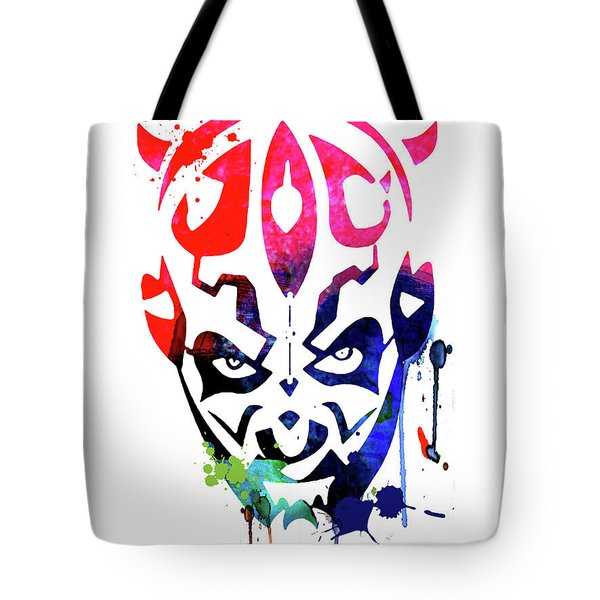 Maul Cartoon Watercolor Tote Bag