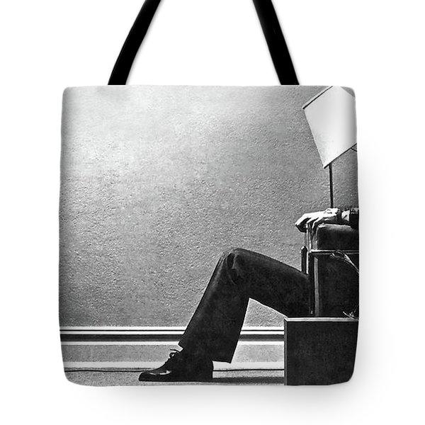 Maxell Ad Blown Away Guy Tote Bag