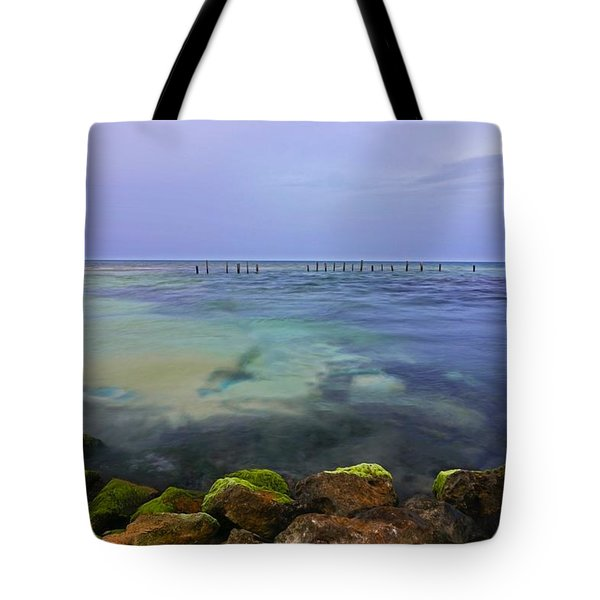 Mayan Sea Rocks Tote Bag