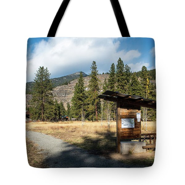 Mazama Barn Trail And Bench Tote Bag