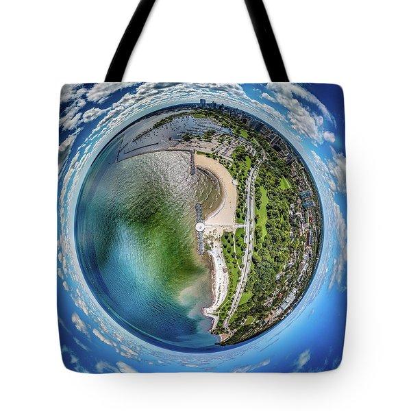 Tote Bag featuring the photograph Mckinley Park Little Planet by Randy Scherkenbach