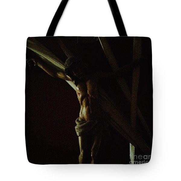 Measuring Up To Jesus Tote Bag
