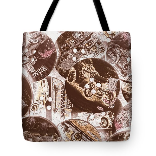 Mechanical Patchwork Tote Bag