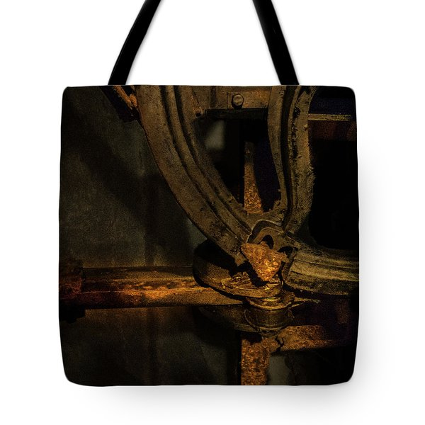 Tote Bag featuring the photograph Mechanism by Juan Contreras
