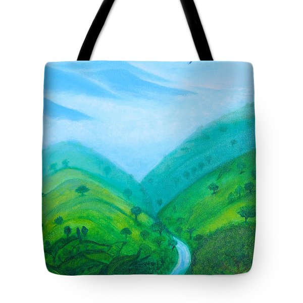 Tote Bag featuring the painting Medellin Natural by Gabrielle Wilson-Sealy