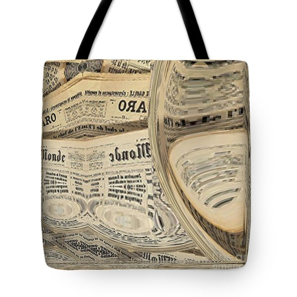 Tote Bag featuring the mixed media Media by A zakaria Mami