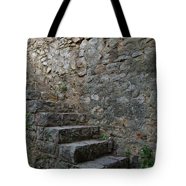 Medieval Wall Staircase Tote Bag