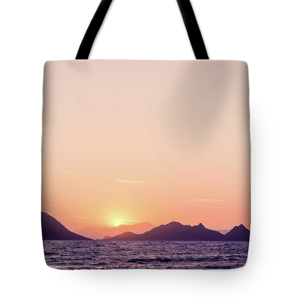 Tote Bag featuring the photograph Mediterranean Sunset II by Anne Leven