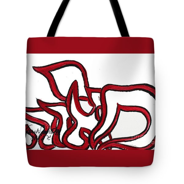 Tote Bag featuring the painting Meira Nf2-90 by Hebrewletters Sl