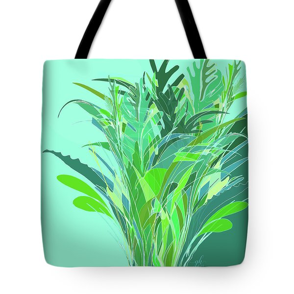 Tote Bag featuring the digital art Melange by Gina Harrison
