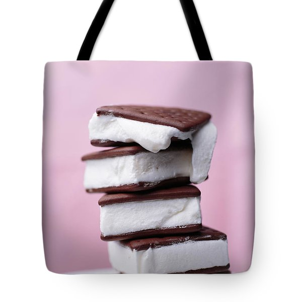 Melting Ice Cream Sandwich Tote Bag