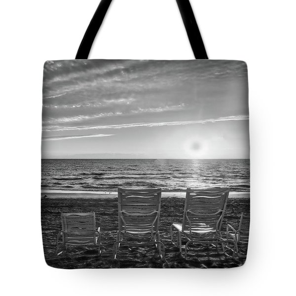 Tote Bag featuring the photograph Memories In Black And White by Lynn Bauer