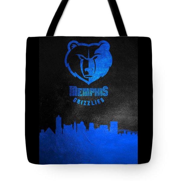 Memphis Grizzlies Skyline Tote Bag